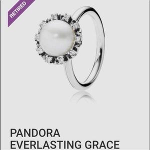 Pandora Ring Pearl Everlasting Grace 4.5